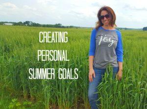 creating personal summer goals wheat field