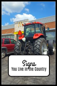 tractor signs you live in the country