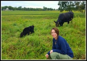5 Lessons on Realizing Dreams Learned Blogging for a Year woman cow calf pasture