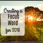 Creating a Focus Word for 2018