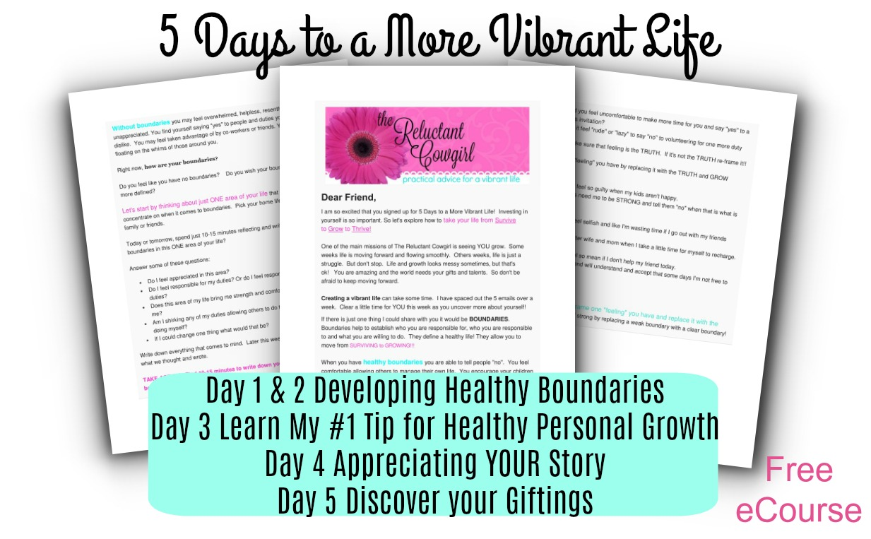 5 Day Mini Personal Growth Course for Moms!