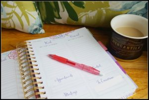5 Lessons on Realizing Dreams Learned Blogging for a Year planner coffee