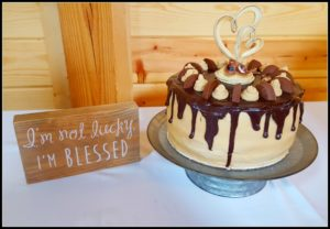 Surviving a Blended Family Wedding groom reeses cake