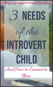 3 Needs of the Introvert Child and How to Connect to Them