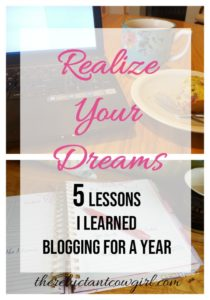 5 Lessons on Realizing Dreams Learned Blogging for a Year laptop planner