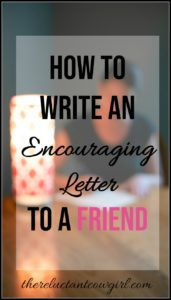 How to Write an Encouraging Letter to a Friend