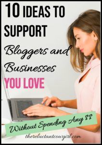 10 Ideas to Support Bloggers and Businesses You Love