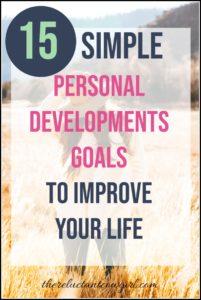 15 Simple Personal Development Goals