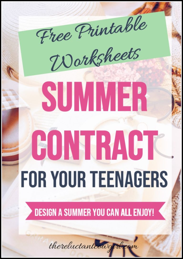 Summer Contract for Tweens & Teens!