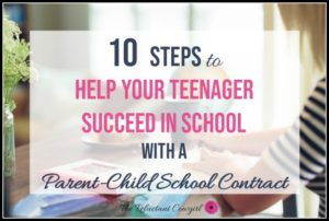 help your teenager succeed in school with a parent-child contract