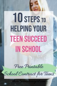 Help your teenager succeed in school with a parent-child school contract