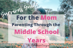 struggling mom parenting through middle school