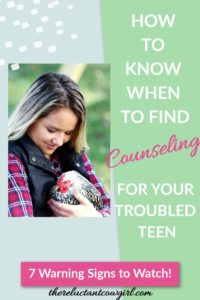 how to know when to find counseling troubled teens