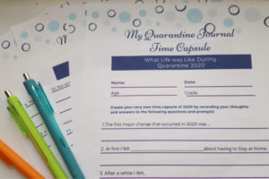 Quarantine Journal Time Capsule Worksheets