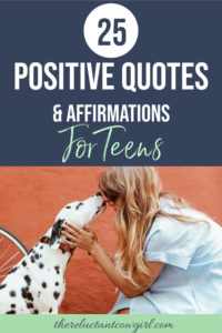 Positive affirmations for teens