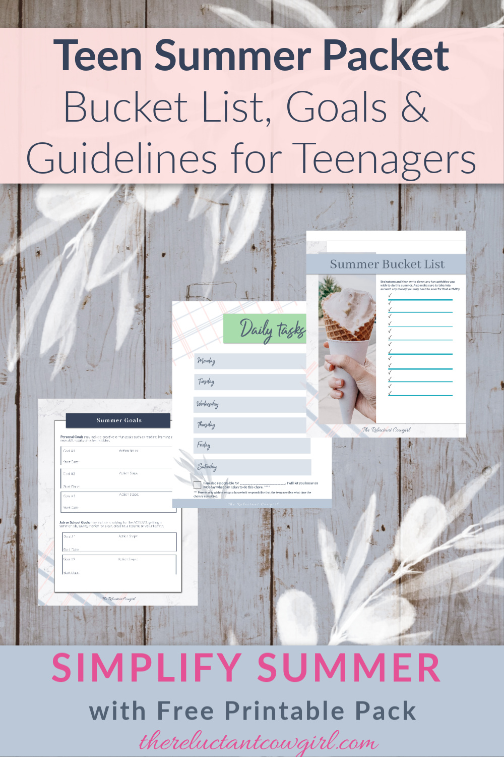 Create a SUMMER CONTRACT with Your TEEN