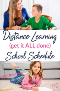 virtual learning schedule printable